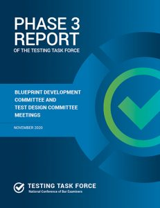Phase 3 Report of the Testing Task Force Blueprint Committee and Test Design Committee Meetings November 2020
