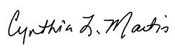 Cynthia Martin electronic signature